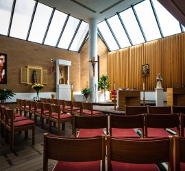 A view of a generic hospital chapel